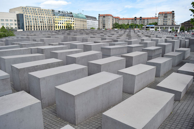 Berlin Germany Europe History Past The Past Memorial In A Row City Block No People Sky Monument Concrete World War 2 World War 2 Memorial Holocaust Memorial Holocaust Historical Repetition Travel Destinations EyeEm Selects EyeEm Gallery EyeEm Best Shots European Union