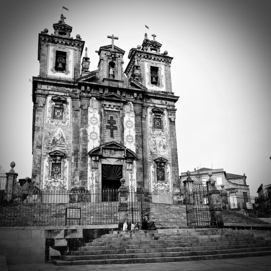 BeW Oporto, Portugal Architecture Belief Black And White Building Building Exterior Built Structure Clear Sky Day History Low Angle View Nature No People Place Of Worship Religion Sky Spirituality The Past Tower Vignette
