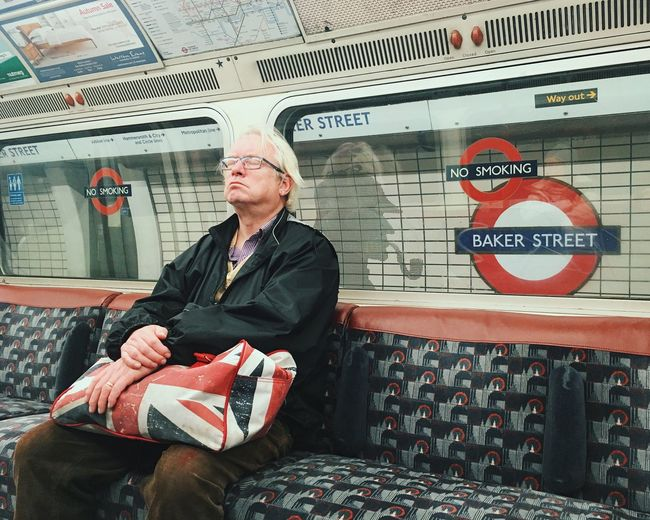 Yeah I'm not that John Watson. One Man Only One Person Public Transportation Indoors  Subway Train People Day NEM Street Shootermag Youmobile Mobile Photography Mobilephotography Travel What Who Where The Street Photographer - 2017 EyeEm Awards EyeEm LOST IN London Postcode Postcards