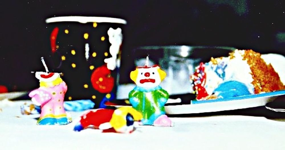 Glitch After The Party Sad Clown Candles Dying Clowns