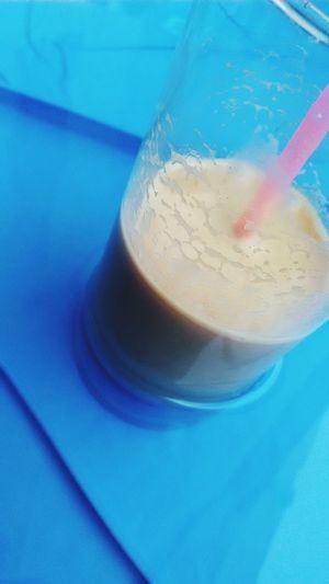 Relaxing Drinking Nescafe Enjoying Life