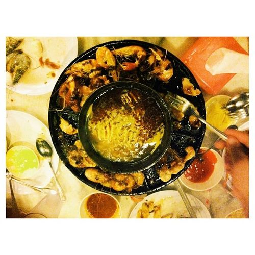 Steamboat night on breakfast on month of Ramadan at red wok Steam Boat Vscocam Ramadan  family