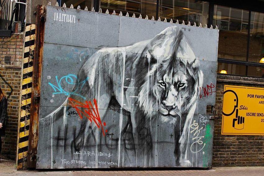 Lions Gate Brick Lane London Brick Lane Graffiti Lion Urban City Market