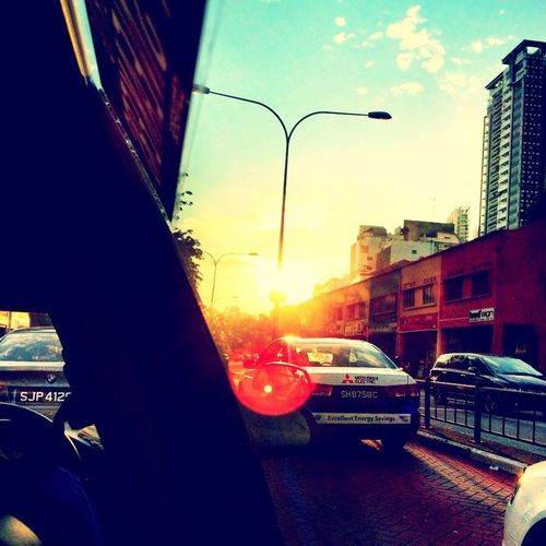 Sunrise... In A Taxi Sunrise_sunsets_aroundworld Sunburst