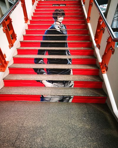 Steps Steps And Staircases Staircase High Angle View Red Outdoors Comics Idonthavetalentihaveagoodcamera Summer Vacation