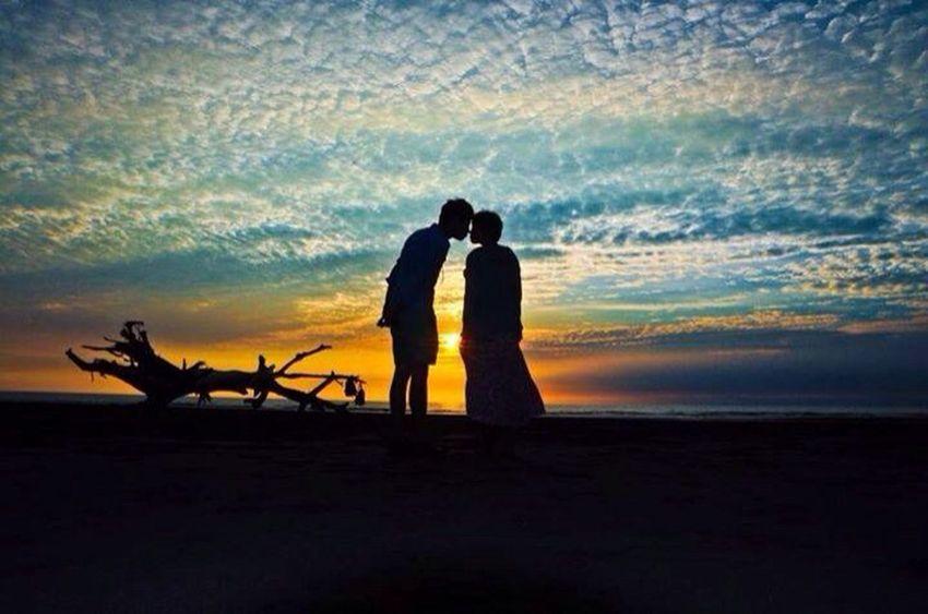 那天看到の最美夕陽 photo by digu Sunset Sea And Sky Nikkon Love