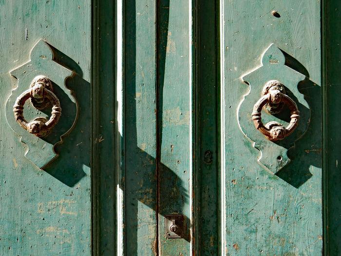 Full frame shot of old door