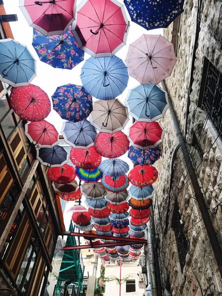 Multi Colored City umbrellas