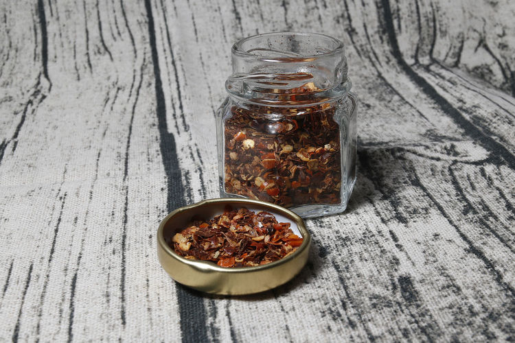 Calabrese Choice Close-up Container Dried Food Food Food And Drink Freshness Glass - Material Healthy Eating Indoors  Ingredient Jar No People Peeper Pimenta Pimenta Calabresa Spice Still Life Table Transparent Variation Wellbeing Wood - Material