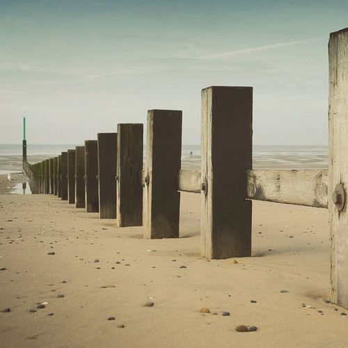 We shall fight them on the beaches!!! #sea #defence #beach #sand #posts Sand Posts Defence Sea Beach