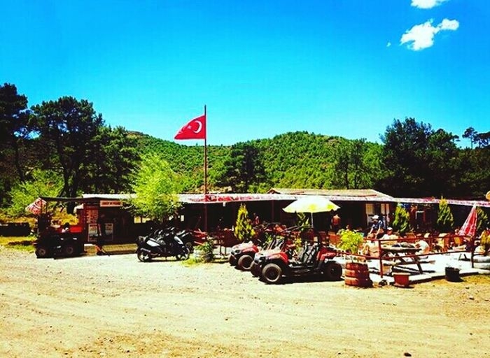 Turkish Safari😀😄😎⛅🚲🚗 Flag Day Sunny Tree Family Enjoyment Vacations Nature Happiness Marmaris, Turkey Turkey Lifestyles Clear Sky Water Luxary Moments Of My Life @ 私の人生の瞬間。 Turkishsafari Safari First Eyeem Photo