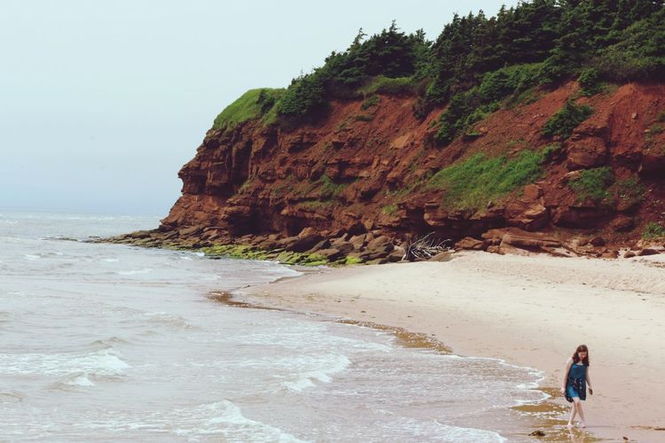 Prince Edward Island Singing Sand Basin Head Provincial Park Canada Red Color Beach Nature Cliff EyeEmNewHere