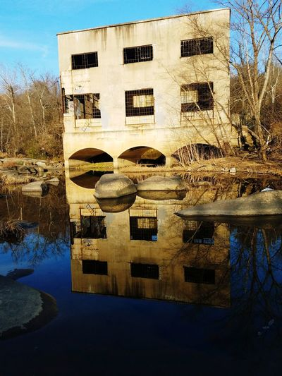 Hydroflection Reflection Water No People Outdoors Built Structure Sky Architecture Building Exterior Day