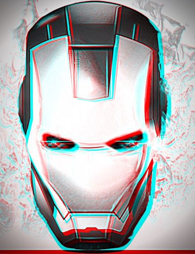 🎬😃IRONMAN ME 😎🔵🔴3D ANAGLYPHE Anaglyph 3D Relief EyeEm Mes Yeux My Eyes Ironman