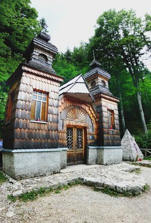 Russian chapel Building Exterior Tree Plant Day Religion Spirituality Place Of Worship History Old Outdoors