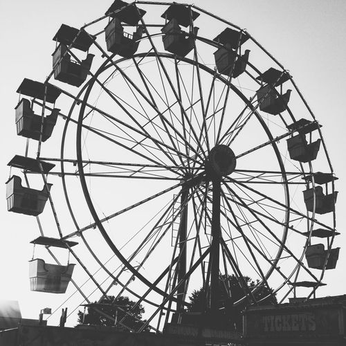 The ferris wheel Photography Photographyislife Outdoor Photography Monochrome B&w Photography Outdoorshot Outdoors Blackandwhite Fairground Structural