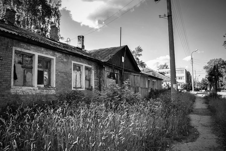 And here living people... in the 21st century Architecture Building Exterior Built Structure Day Homeland House Life In Russia Outdoors Russia Russian Landscapes The Street Photographer - 2017 EyeEm Awards The Architect - 2017 EyeEm Awards Abandoned Abandoned Buildings