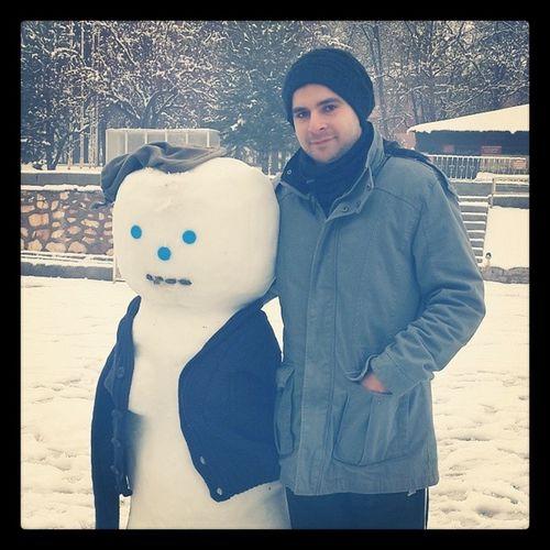 Kardan kadin yapmaya calistik Snowwoman Snow Instafallow Tunceli white good instalife winter cold