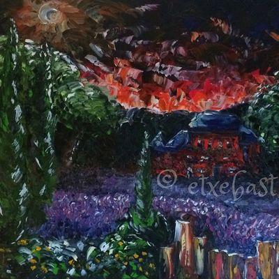 Ruine Rouge. Huile sur toile. 100X50. Extrait/Sample. Oil. Canvas. Serie Ponton. 3/3.