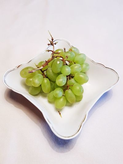 Green grapes Green Grapes Grapes Bowl Table Fruit Close-up Food And Drink