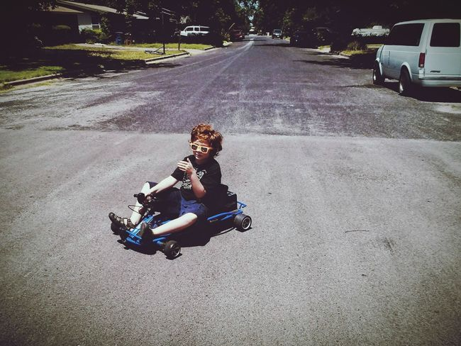 Live For The Story Go Carts Go Kart Red Head Boy Austin Texas Summer Memories 🌄 Sunglasses Road Boy's Fun Son Boys And Their Toys Let's Go. Together. Sommergefühle