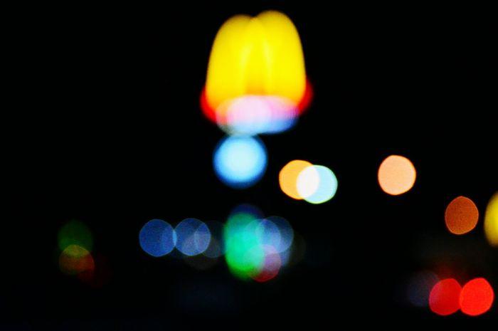 I'm lovin it Bokeh Illuminated Defocused Glowing Night Circle Electric Light Vibrant Color Dark Light Abstract Nightlife Colorful Vibrant Black Background Multi Colored Bokeh Bubbles Mcdonalds Maccas