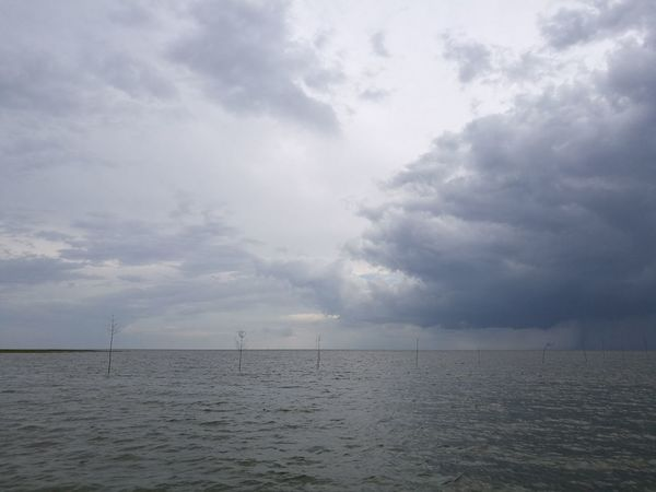 Unwetter Alone Watt Cuxhaven Strand Nordsee Seaside Unwetter Sea Tranquil Scene Waterfront Horizon Over Water Tranquility Cloud - Sky Water Scenics Sky Nature Beauty In Nature Rippled Outdoors No People Day