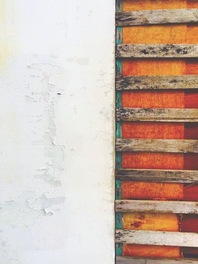 Brown And White Decay Full Frame Multi Colored No People Peeled Paint Wall Wood Wood Decays Wood Wall