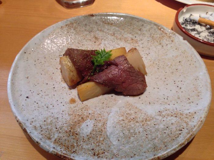 福岡の筍と鹿児島の牛肉の山椒焼き。エロい!エロいよ!