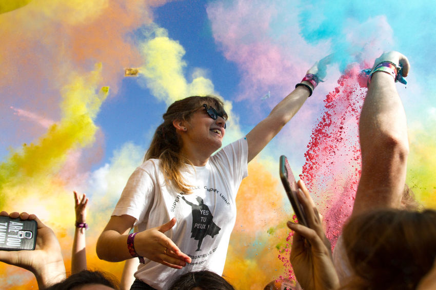 My Year My View Sun Multi Colored Celebration Fun Happiness Music Festival Sky Day