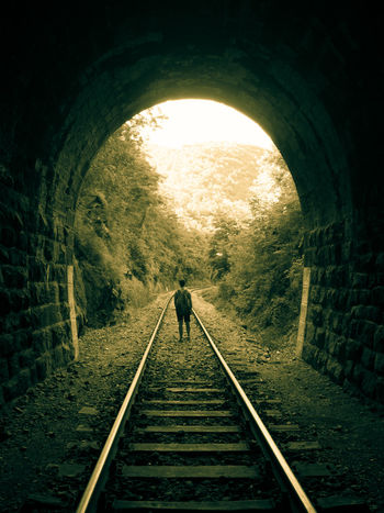 Life Light Public Transportation Transportation Arch Architecture Built Structure Day Direction Humanmade Light At The End Of The Tunnel Rail Transportation Railroad Track Searching Sence The Way Forward Track Trainline Tunnel