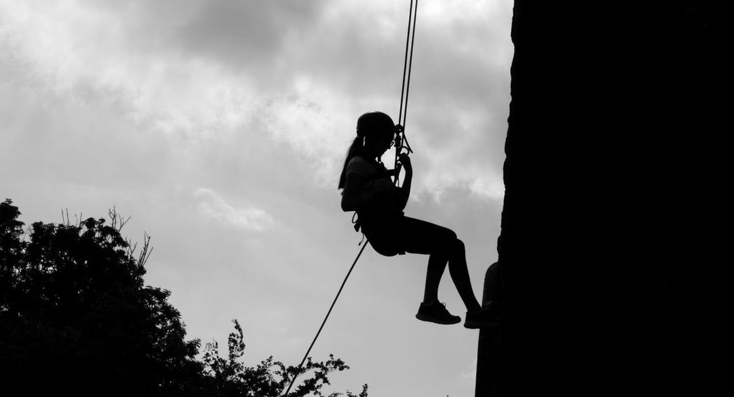 Abseil Abseiling Art Black And White Black And White Photography Building Canon1200DPhotography Canonphotography Cloud Cloud - Sky Cloudy Day Jumping Leisure Activity Lifestyles Low Angle View Outdoors Silhouette Skill  Sky Tamron 18-200 Worcestershire Uk