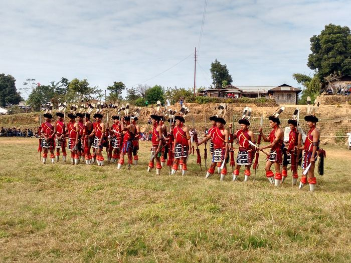 SümiWarriors Culture Village Nâgas Nagaland India Red Outdoors Only Men No Edits No Filters Zunheboto Finding New Frontiers Connected By Travel