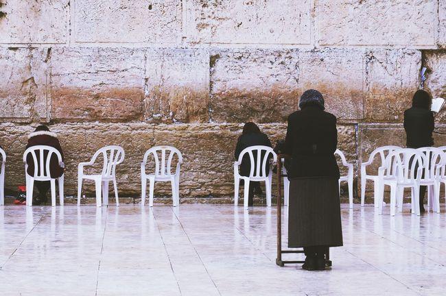 Pray Jerusalem Scilence Praying Religion Middle East Israel Sony NEX Sony Nex3n Sony Real People Rear View Lifestyles Full Length People Day #urbanana: The Urban Playground