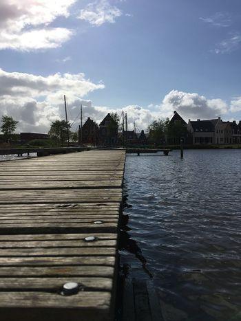 Steg Holzsteg Wasser Bootssteg