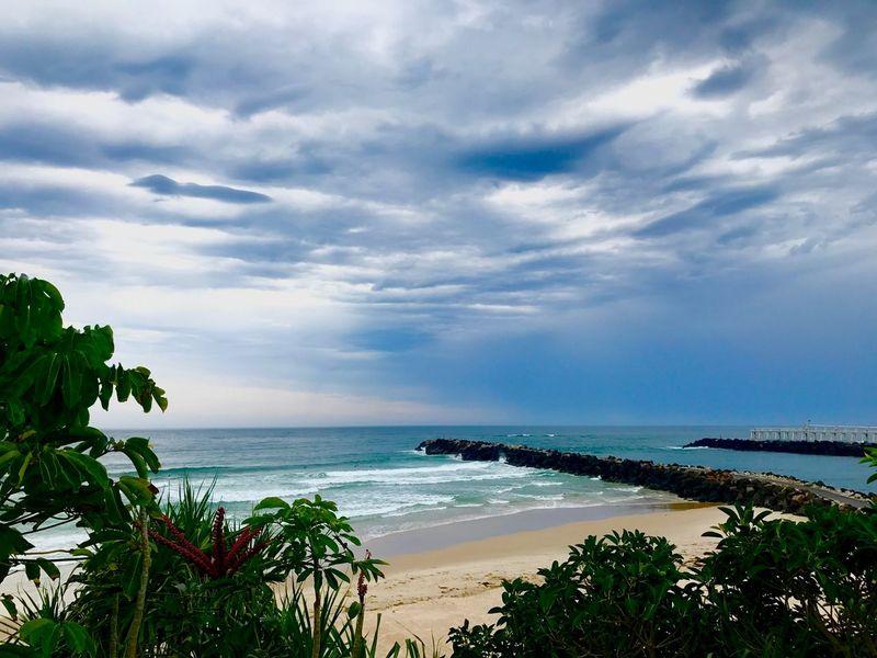 Gloomy Blues EyEm Best Shots - Landscape Eyem Best Shots - Nature Coolangatta Gold Coast Australia Water Sea Sky Cloud - Sky Beauty In Nature Horizon Over Water Scenics - Nature Beach Horizon No People Outdoors