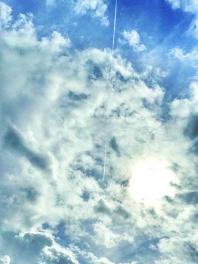 Autumn Blue Sky Relaxing Autumn Sky Autumnsky Clouds And Sky Sun Blue Sky