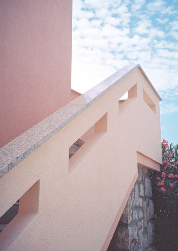 35mm Analogue Photography Architecture Cloud - Sky Color Palette Film Photography Filmisnotdead Pink Building Pink Color