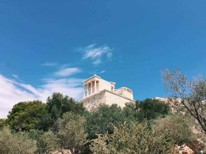 Acropolis of athens against sky