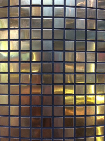 Full Frame Backgrounds Pattern Metal No People Architecture Repetition Shape Indoors  Built Structure Design Yellow Close-up Wall - Building Feature Grid Grate Geometric Shape Glass - Material Glass