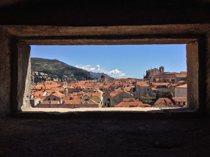 Window in Dubrovnik, Croatia Architecture Built Structure Sky Building Exterior Building Window Day No People Clear Sky History City Town Old TOWNSCAPE