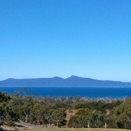 View of Coles Bay Freycinet National Park Hazards ... Landscape_photography Landscape Australia Tasmania Blue Sky Travel Photography
