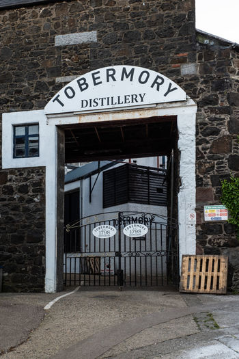Scotland Whisky Architecture Brick Brick Wall Building Building Exterior Built Structure Capital Letter Communication Day Distillery Factory Information Outdoors Sign Text