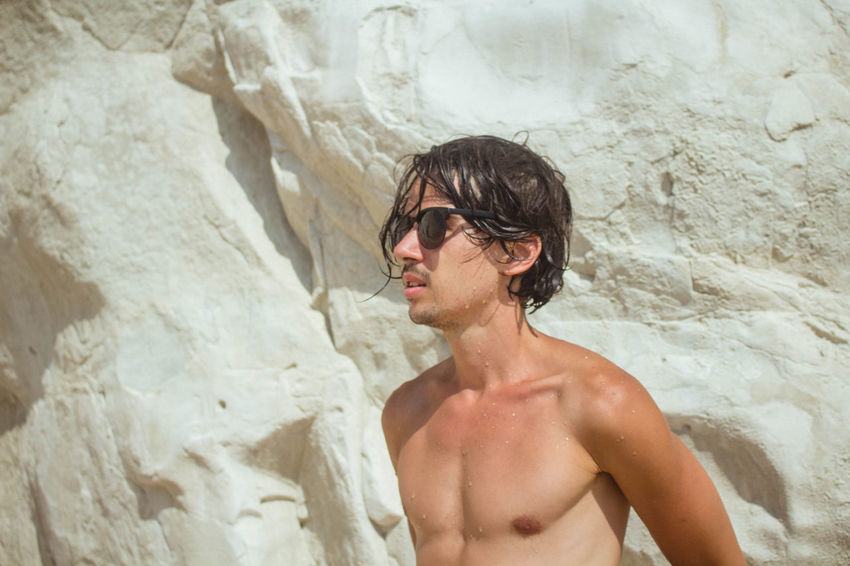 Adult Beach Beautiful Brunette Day EyeEmNewHere Hair Italy Lifestyles Men Mountains People Portrait Real People Shirtless Summer Sunglasses The Week Of Eyeem The Weekend On EyeEm Travel Travel Destinations Traveling Vacations Young Adult Young Men