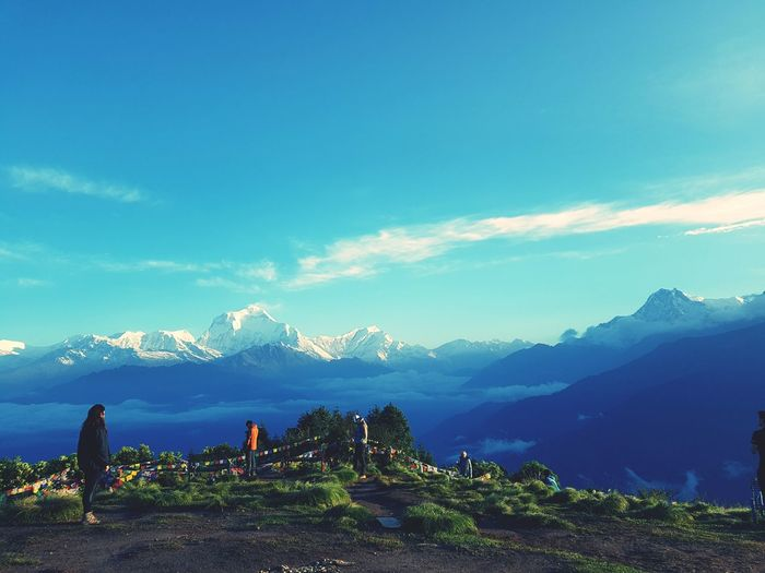Poon Hill Sunrise On The Top Of The Hill Sky Niceday After The Rain Nepal #travel Trecking With Annapurna The Great Outdoors - 2017 EyeEm Awards