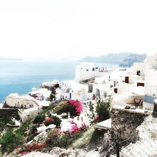 Breathtaking view of Oia Santorini Greece! Greece Travelblogger IPhoneography Showcase June Travel Destinations Travelgram Santorini Sunset Wonders Of The World Traveling Saturday Ocean View Summer June Travelwriter Eyeemphoto
