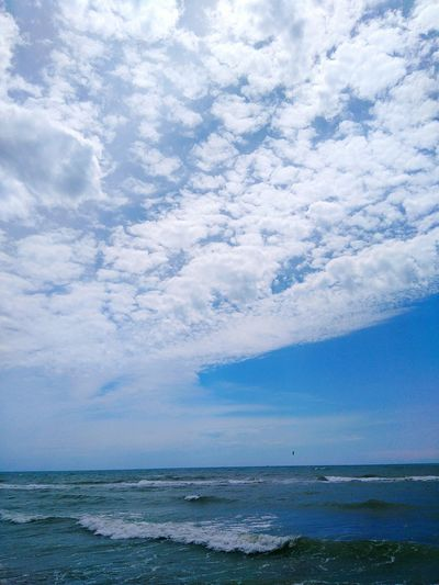 Sky And Sea Ostia Beach Clouds And Sky Where The Wind Blows Surfing Sea Ostia Life Is A Beach Taking Photos Relaxing Cloudy Skies Beach Blue The Week On EyeEm Colour Of Life Color Palette My Year My View The Great Outdoors - 2017 EyeEm Awards