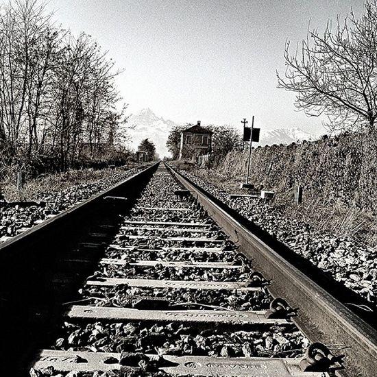 Dritta la via... Railways Railwaylines Binari Ferrovia Chemindefer Train Bestphoto Bnw Blackandwhite Blancoynegro Noiretblanc Biancoenero Bwporn Bw_lovers Bw_crew Bnw_society Bnw_globe Bw_italia Best_bw Bestpic Bestoftoday Monochrome Monotone Webstagram Instagram xperiaz