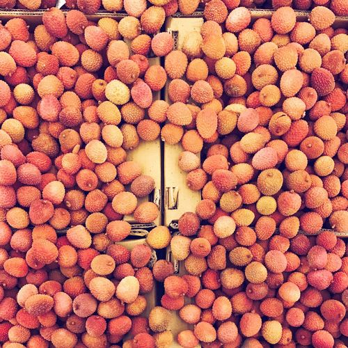 Lychee Lychees Retail  Large Group Of Objects Abundance Backgrounds For Sale Heap Food Fruit