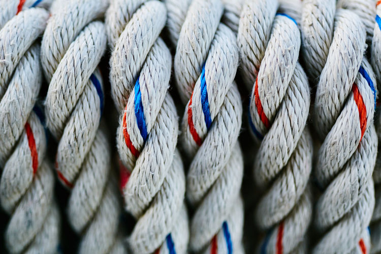 Strength Close-up Rope Backgrounds Full Frame Industry Textile Textured  No People Pattern Equipment Transportation Man Made Spiral Twisted Alloy Extreme Close-up Fiber Man Made Object Woven Steel